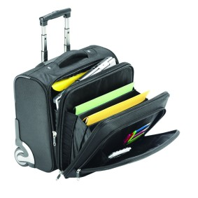 "Falcon 15.6"" mobile laptop trolley case."