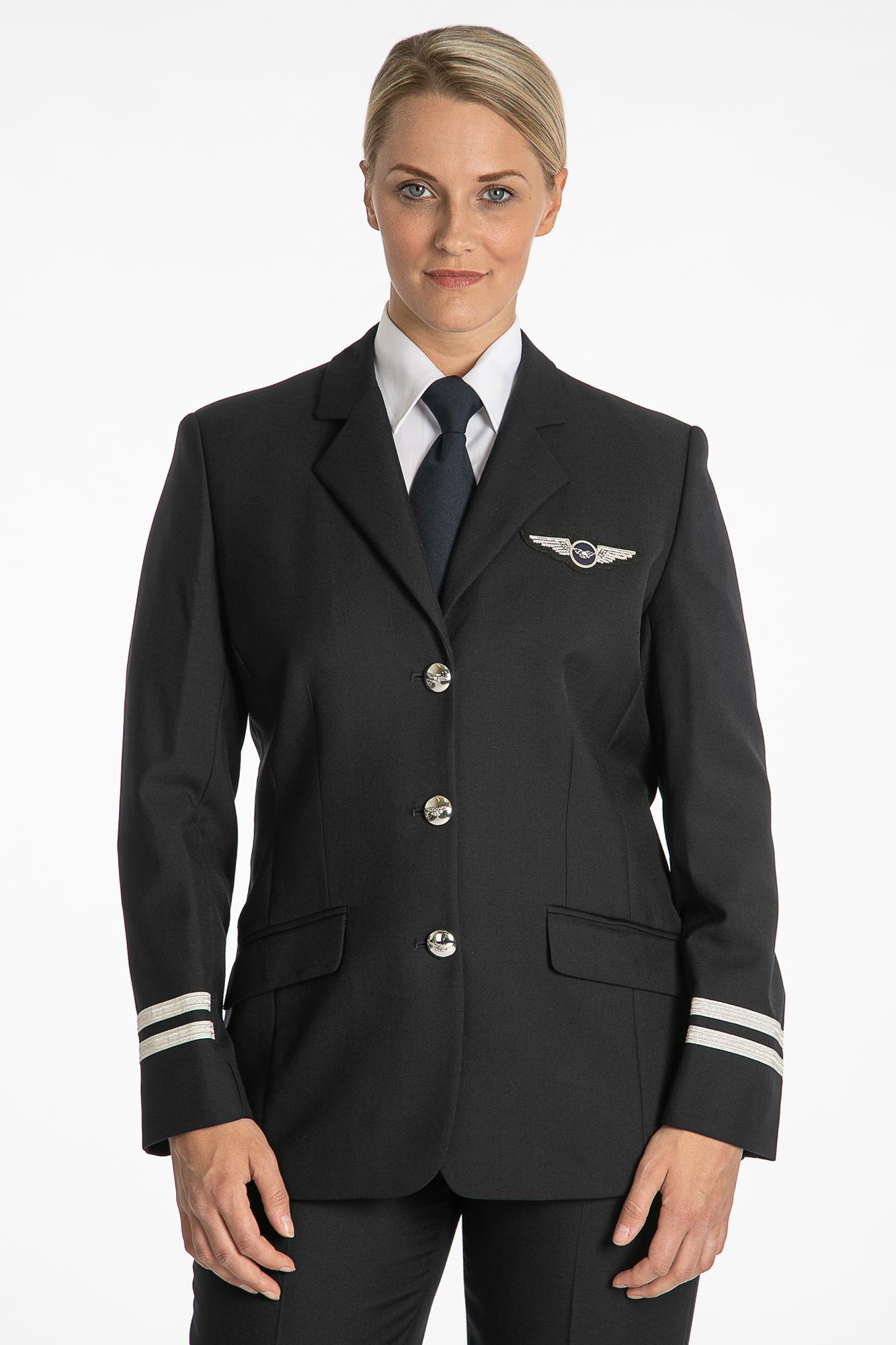 LADIES PILOT UNIFORM SINGLE BREASTED JACKET BLACK / NAVY